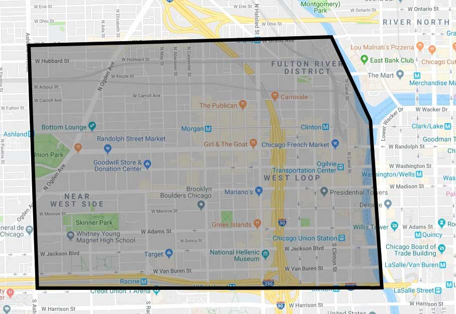 West Loop Neighborhood Map